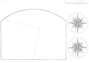 шаблон елочки из бумаги объемной