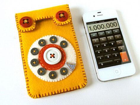 винтажный чехол своими руками в подарок для мобильного айфон