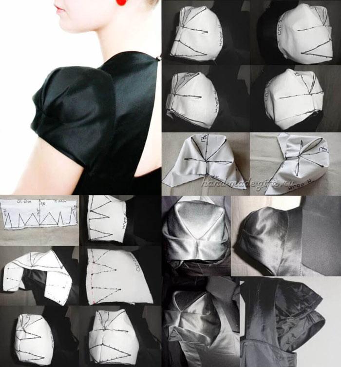 выкройка рукава платья фото, пошаговая выкройка рукава платья, схема выкройки рукава