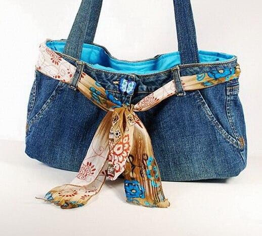 49777fe01be7 Сумка из джинсов своими руками — СВОИМИ РУКАМИ — Handmade идеи для  рукодельниц —