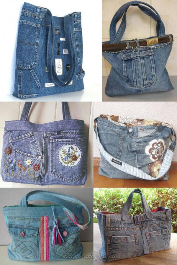 сшить сумку из джинсов своими руками