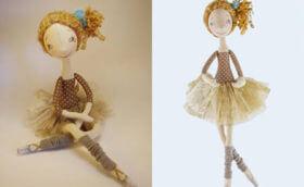 красивая кукла балерина своими руками