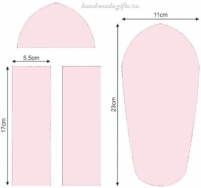 выкройка пенал для девочек своими руками школьный