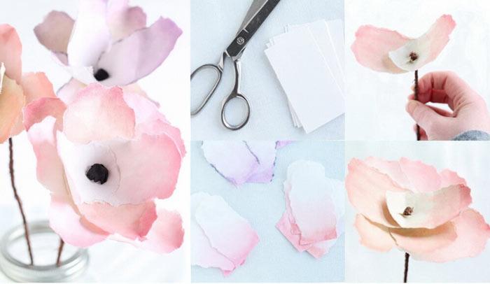 мастер-класс мк бумажные цветы своими руками