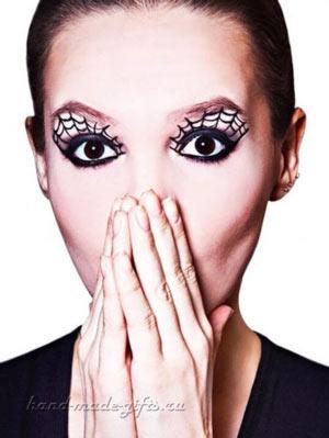 макияж паутина на хэллоуин фото