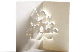 киригами замки объемные открытки