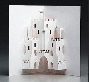 киригами замки открытки