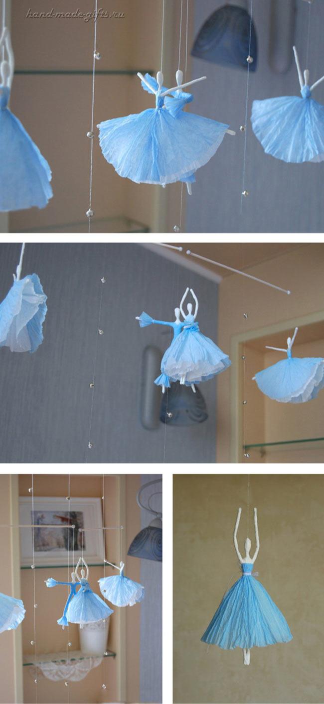 балерины своими руками из салфеток