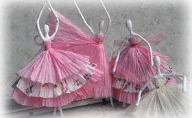 кукла балерина из салфеток своими руками