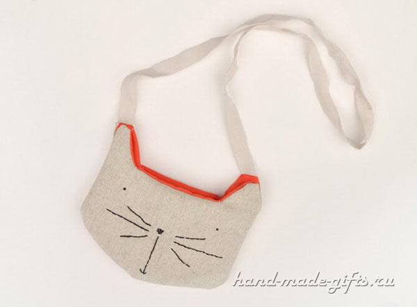 прикольные сумки своими руками с кошкой