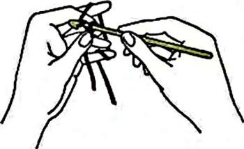 вязание крючком +для начинающих воздушные петли