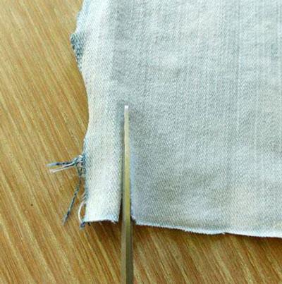 пряжа из джинсовой ткани