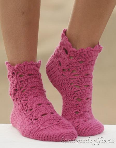 красивые носки вязание крючком