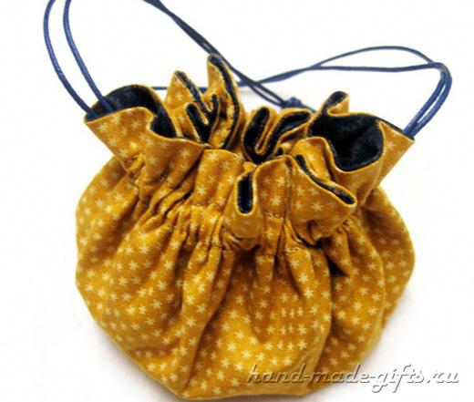 сшить сумочку-мешочек для девочки