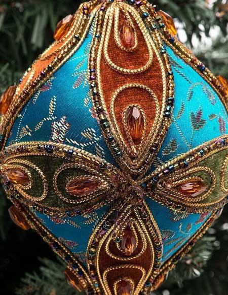 шарики на елку с бисером