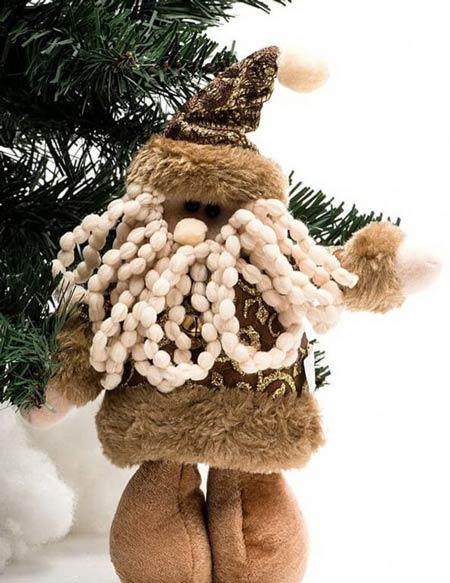 дед мороз украшения на елку из ткани