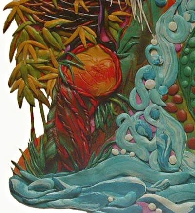 картины из пластилина, тропический лес