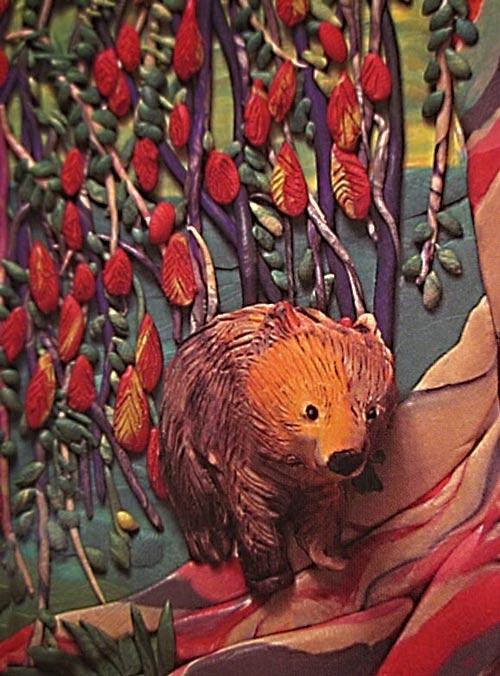 картины из пластилина, мишка коала