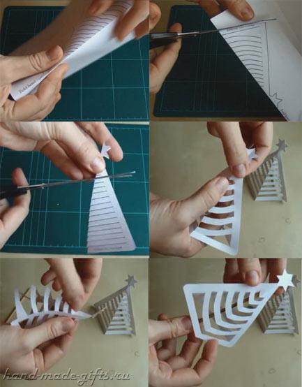 мастер-класс объемной ёлочки из бумаги