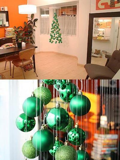 новогодняя елка из шариков своими руками