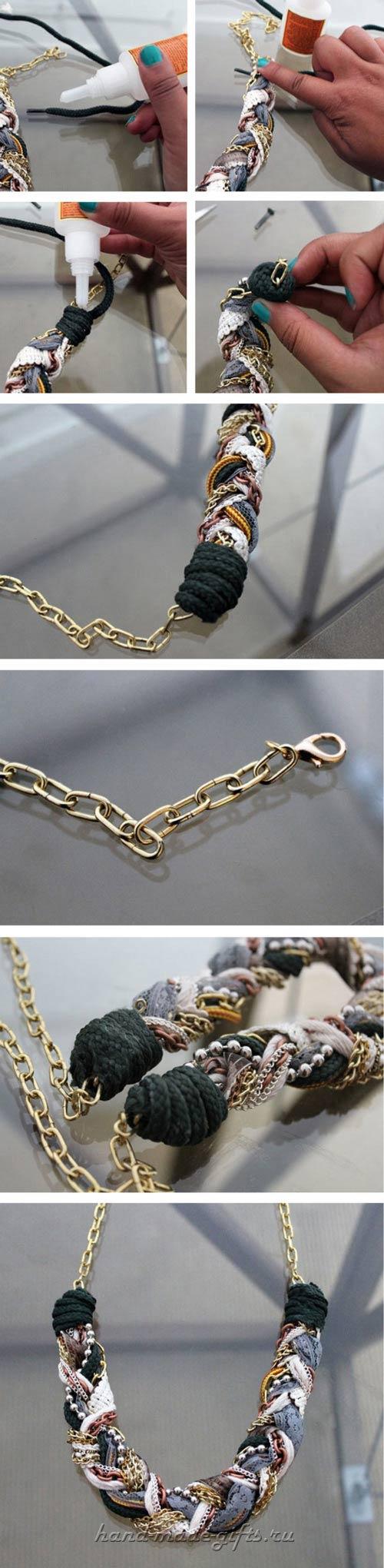 браслет и ожерелье в стиле бохо своими руками