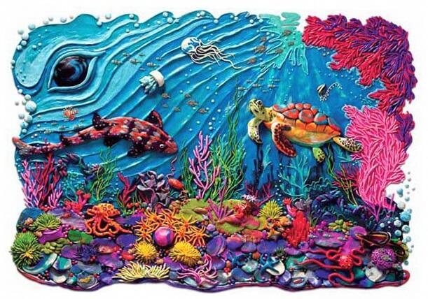 красивые картины пластилина