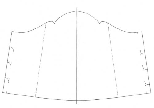 шаблон подставки для колье