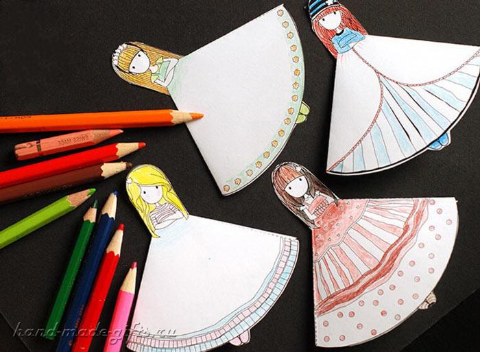 угловые закладки для девочек своими руками