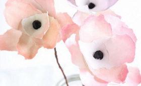 бумажные цветы своими руками фото