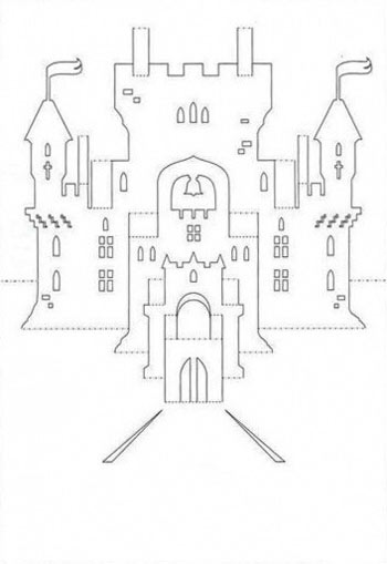 киригами замки схемы шаблоны
