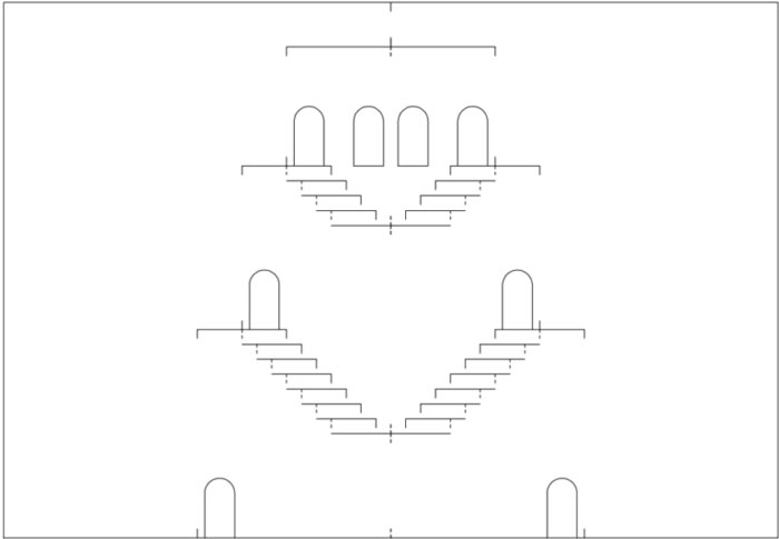 киригами замки шаблон схемы