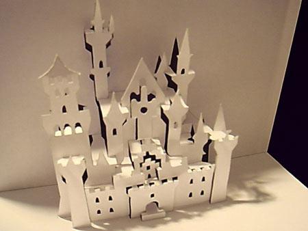 киригами замки схемы шаблоны скачать