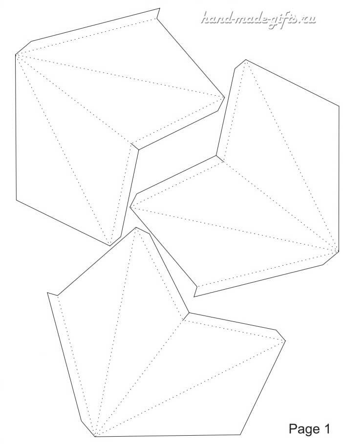 объемная звезда бумаги руками шаблон