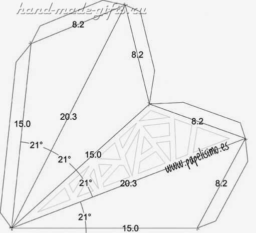 объемная звезда бумаги схемы шаблоны