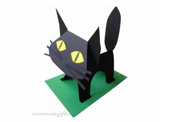 поделка кошка своим руками из бумаги