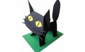 поделка кошка своими руками из бумаги