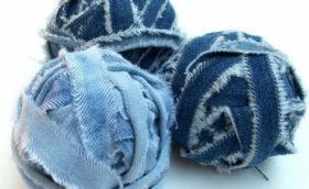 пряжа из старых джинсов своими руками мастер-класс