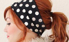 Сшить повязку на голову для женщины