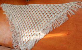 Вязание крючком: платок для начинающих