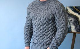 Узоры спицами со схемами для мужских свитеров