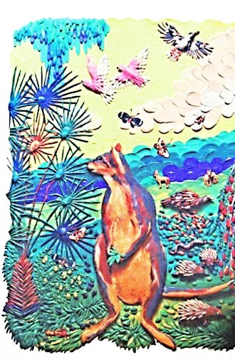 картины из пластилина, австралия, кенгуру